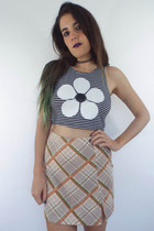 As If Vintage 90s Guess High Waisted Plaid Mini-Skirt