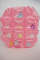 Vintage 90s Super Kawaii Pastel Inflatable Mini Backpack - Pink