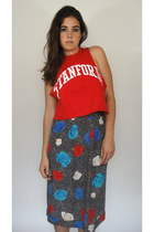  Vintage Stanford Cropped Muscle Tee
