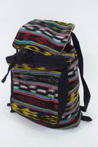 Vintage 90s Colorful Tribal Print Drawstring Backpack