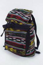 Vintage 90s Colorful Tribal Print Drawstring Backpack