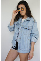 Vintage 90s Marlin Design Light Wash Denim Jacket