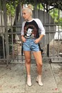 Eggshell-boots-light-blue-denim-gromet-shorts-black-adam-ant-vintage-t-shirt
