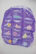 Vintage 90s Super Kawaii Pastel Inflatable Mini Backpack - Purple