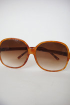 Vintage Large Round Orange Tortoiseshell Sunglasses