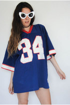 Vintage Distressed Red White and Blue Football Jersey