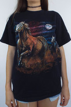 Wild Horses Vintage 90s Front and Back Animal Tee