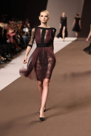 dark gray Elie Saab dress