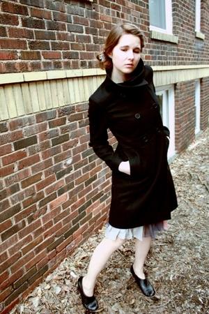 Old Navy coat - Mango dress - me too shoes -