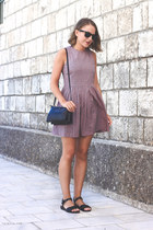 pink Paul & Joe Sister dress - navy Celine bag - black ray-ban sunglasses