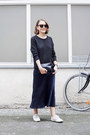 Navy-organic-by-john-patrick-dress-gray-equipment-sweater-navy-celine-bag