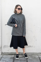 navy SANDRO skirt - black Stella McCartney shoes