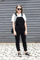 black Reed Krakoff bag - black ray-ban sunglasses - black Topshop romper