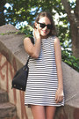 White-wood-wood-dress-navy-louis-vuitton-bag-black-ray-ban-sunglasses