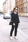 Light-blue-club-monaco-shirt-black-anya-hindmarch-bag