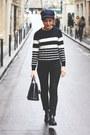 Black-cos-boots-black-acne-jeans-navy-barbour-jacket-navy-apc-sweater