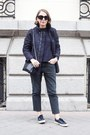 Dark-gray-acne-jeans-navy-petit-bateau-sweater-navy-celine-bag