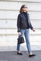 black The Kooples jacket - light blue Gap jeans - black Petit Bateau sweater