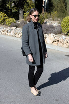 Zara coat - Chanel shoes - Petit Bateau sweater - Chanel bag