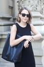 Black-gap-dress-black-celine-bag-black-ray-ban-sunglasses