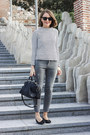 Navy-sandro-coat-heather-gray-the-kooples-jeans-navy-louis-vuitton-bag