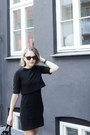 Black-the-kooples-dress-black-celine-bag-black-ray-ban-sunglasses