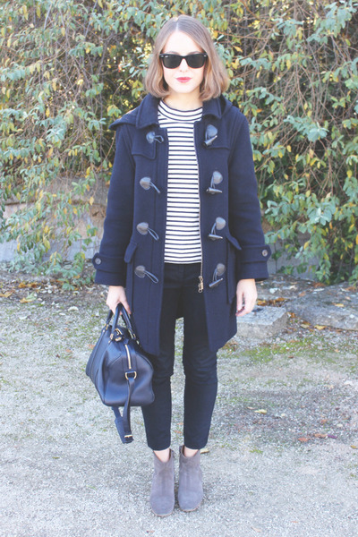 navy Barbour coat - tan Isabel Marant boots - navy Louis Vuitton bag