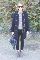 navy Barbour coat - tan Isabel Marant boots - navy Louis Vuitton bag