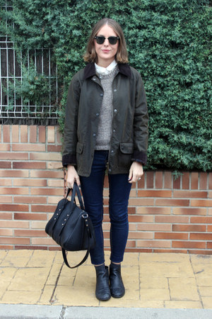 Marais USA boots - Topshop jeans - Barbour jacket - Alexander Wang bag