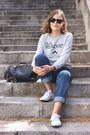 Blue-mih-jeans-jeans-black-louis-vuitton-bag-black-ray-ban-sunglasses