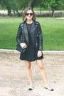 Black-the-kooples-dress-black-the-kooples-jacket-black-the-kooples-bag