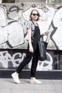 Black-celine-bag-black-ray-ban-sunglasses-black-topshop-romper