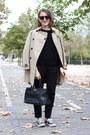 Beige-burberry-coat-black-the-kooples-sweater-black-prada-bag