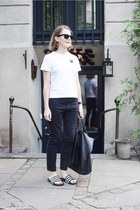 black Celine bag - dark gray Etoile isabel marant jeans