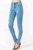 high waisted second skin jeans