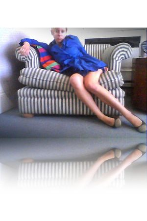 blue bs closet jacket - gray banana republic shoes