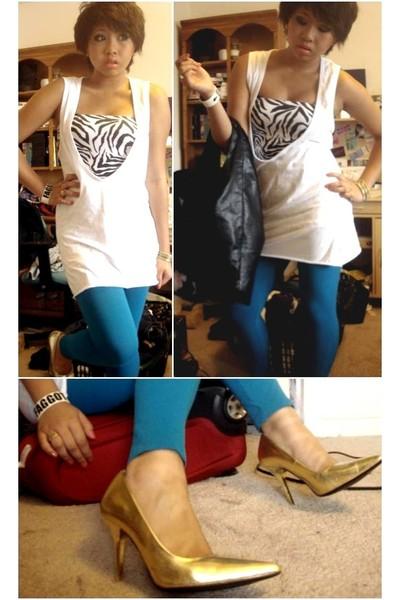Stitches shirt - Urban Planet top - Stitches leggings - purse - Delicious shoes