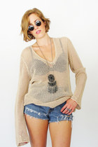 beige crochet Trashy Vintage sweater
