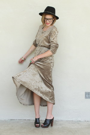 silver chain vintage belt - beige Trashy Vintage dress