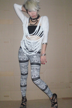 blouse - blouse - American Apparel pants - shoes