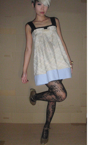 dress - shoes - Topshop tights