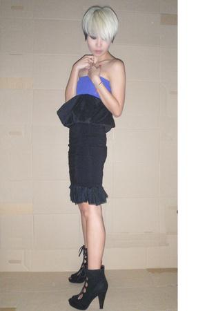 black tulle skirt - black mini hnm skirt - black puffy skirt