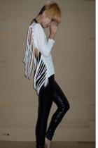 DIY blouse - cotton on tights - aa blouse