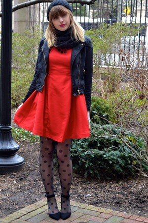 Prabal Gurung for Target dress - TJ Maxx hat - H&amp;M jacket - XXI tights