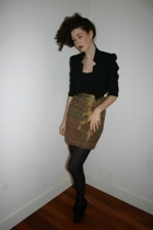 FCUK blazer - Yves Saint Laurent skirt - D&G shoes