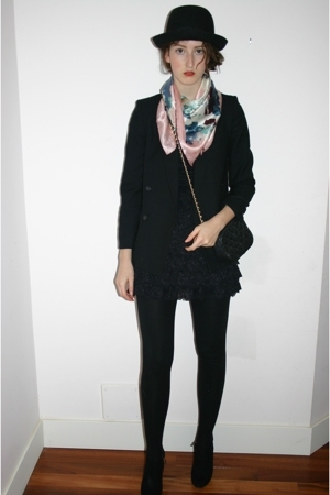 Urban Outfitters hat - eaton blazer - Betsey Johnson dress - D&amp;G shoes - Moschin