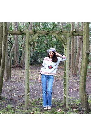 Kookai jeans - wool Lafayette collection hat - Primark sweater