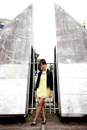 Primark flats - DKNY jacket - new look necklace