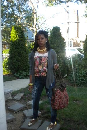flea market top - flea market jeans - Marshalls purse