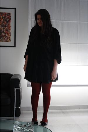 black H&M dress - red socks - black shoes